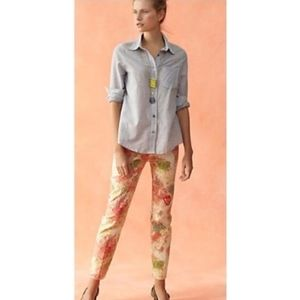 Anthropologie Cartonnier Floral Ankle Pants Size 4